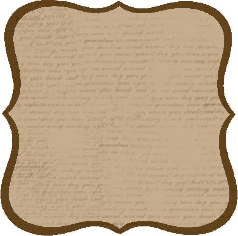 étiquette brune écriture