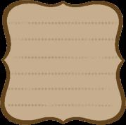 étiquette brune lignée