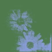 fleur vert bleu