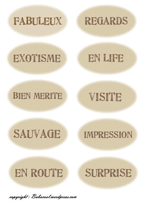 Extrêmement étiquettes à imprimer | BABANEW WA16