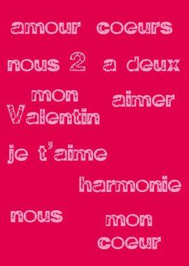 étiquettes St Valentin