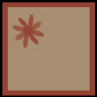 étiquette carrée rouge-brun