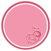 étiquette ronde bicolore