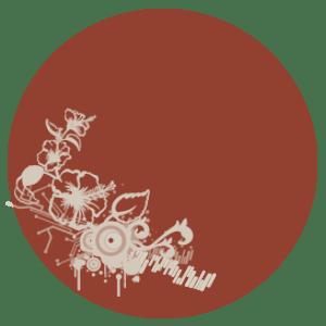 étiquette ronde bordeaux