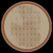 étiquette ronde brune