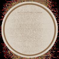 étiquette ronde manuscrite