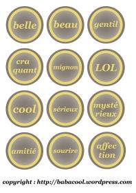 étiquettes bicolores ado