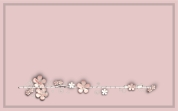 étiquette fleur vieux rose
