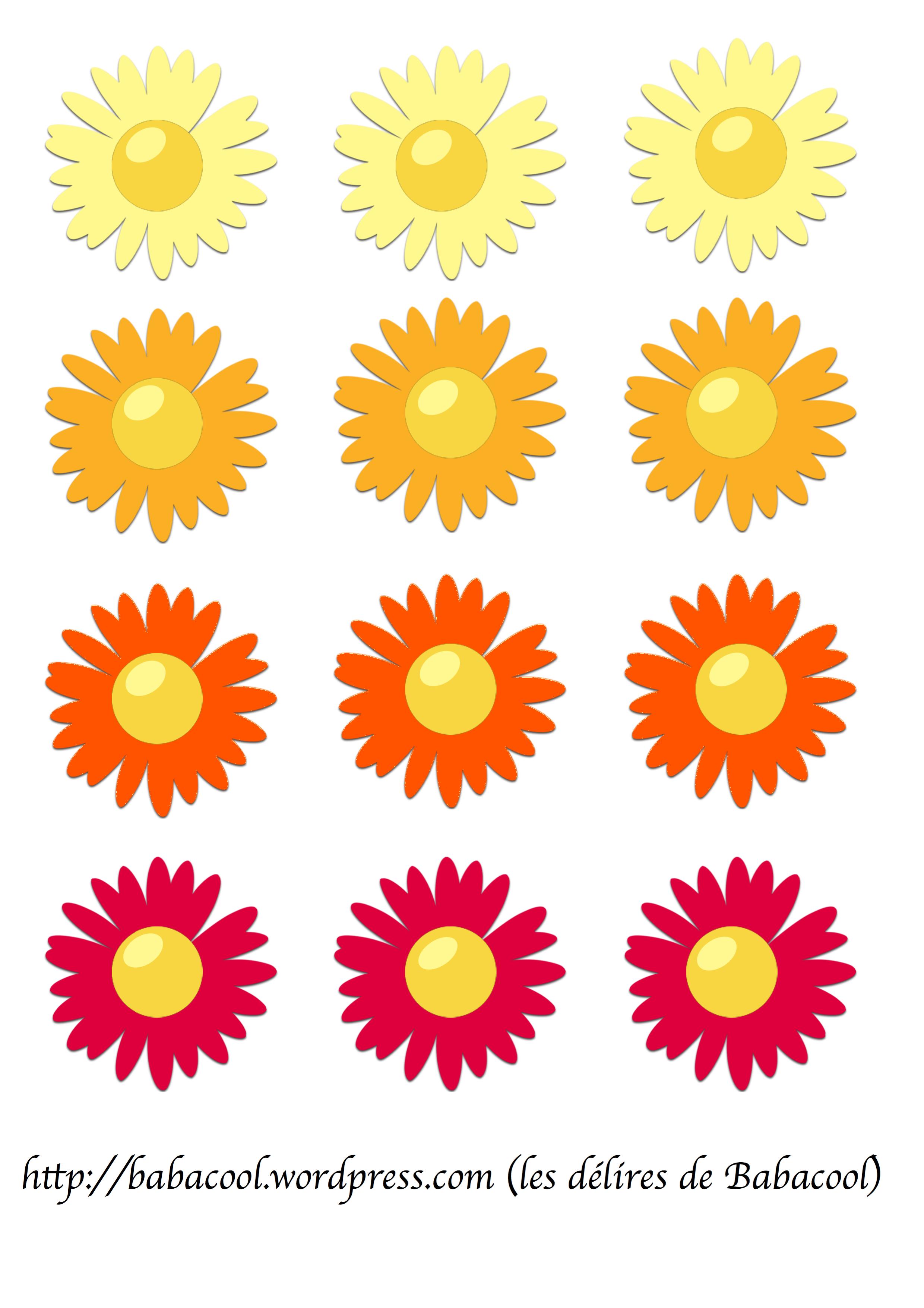 Fleur d couper babanew - Fleur a colorier et a decouper ...