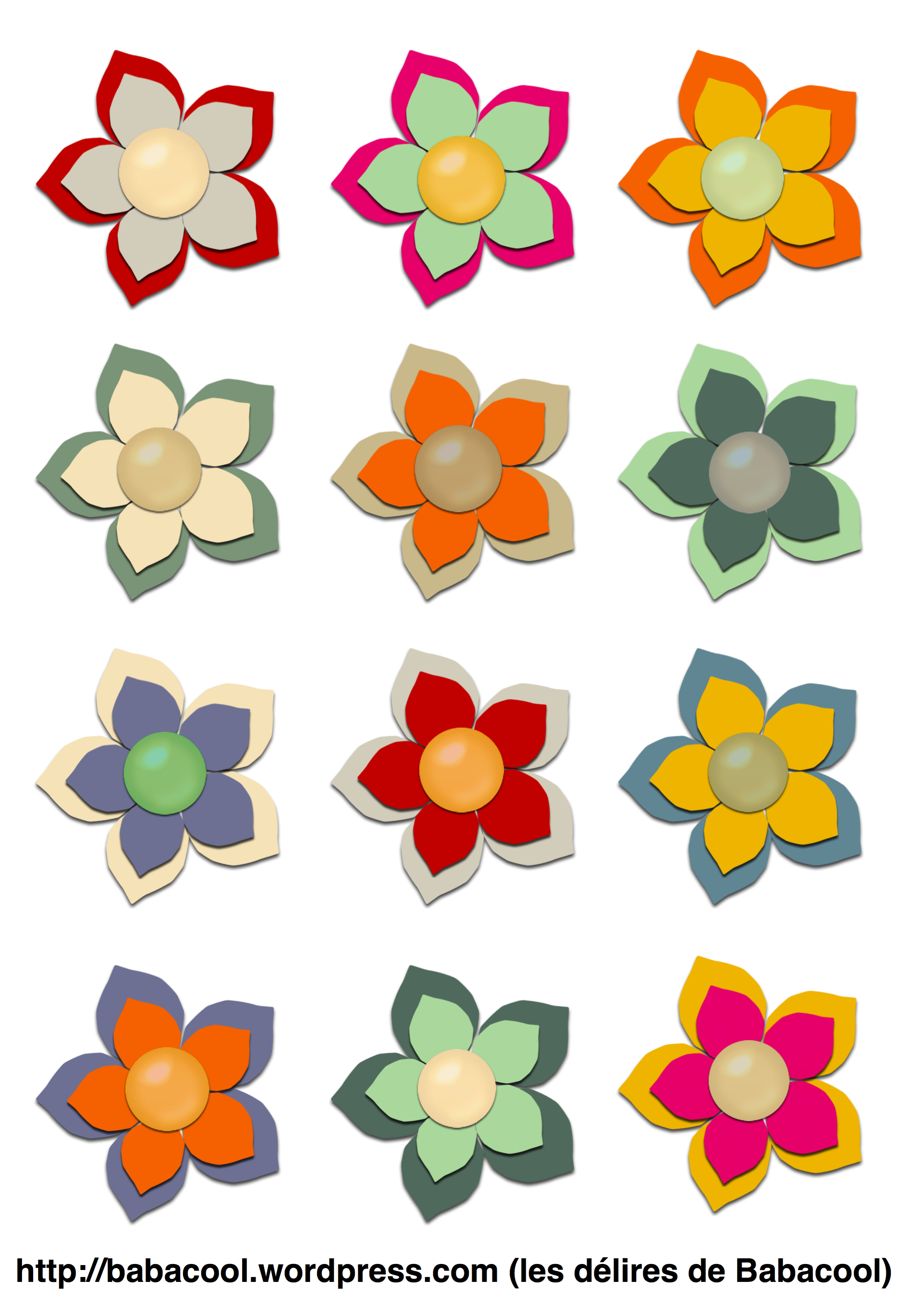 Fleurs d couper babanew - Fleur a colorier et a decouper ...