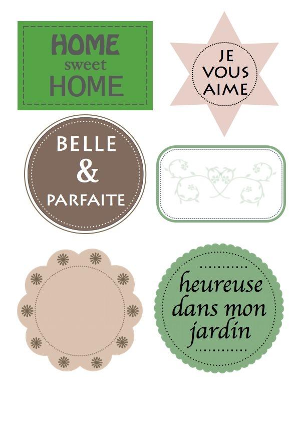 Tiquettes gratuites imprimer babanew - Etiquette jardin ...