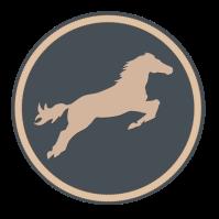 cheval bleu gris