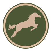 cheval vert chasse