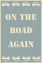 on the road bleu vintage