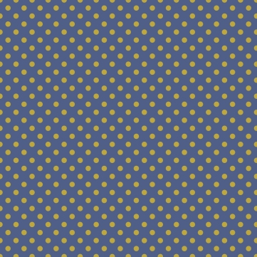 pois dorés sur fond bleu