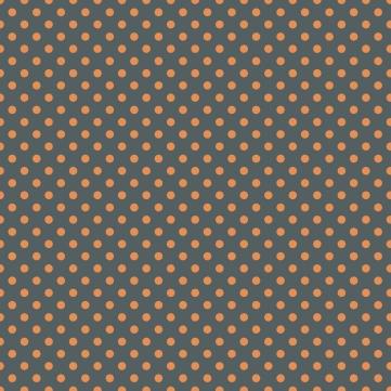 pois moyens orange sur fond gris