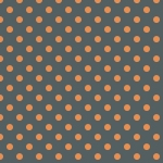 pois orange sur fond gris