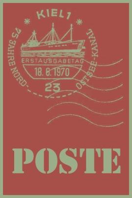 tag poste corail vintage
