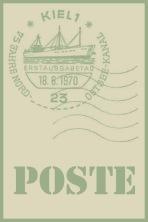 tag poste vert vintage