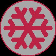 flocon rouge tag gris