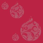 papier rouge boules grises