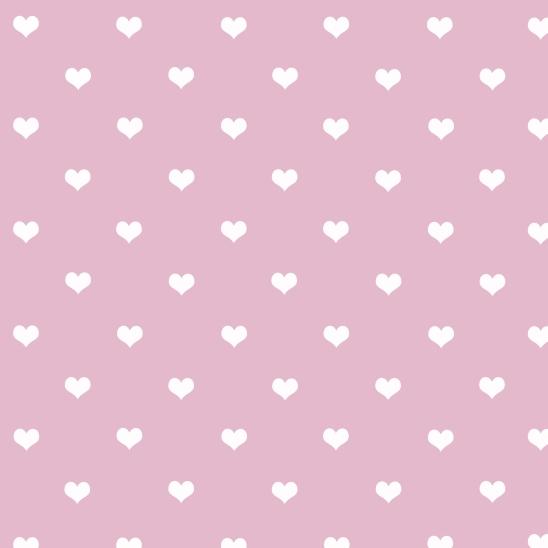 fond rose et petits coeurs blancs