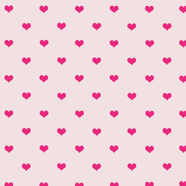 petits coeurs fushias sur fond rose