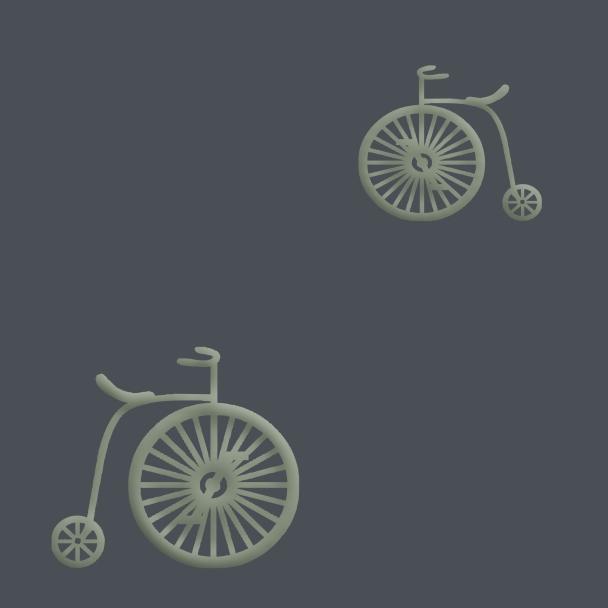 vélo verts sur fond gris