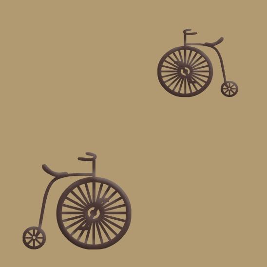 vélos brun sur fond beige