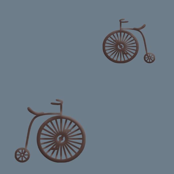vélos brun sur fond bleu