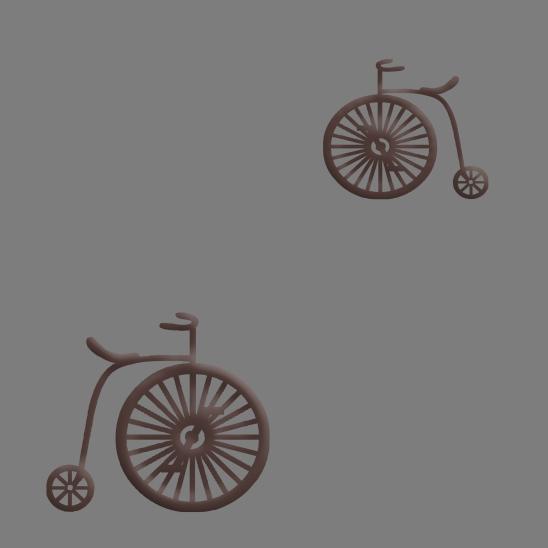 vélos brun sur fond gris
