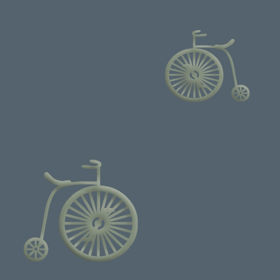 vélos verts sur fond bleu gris