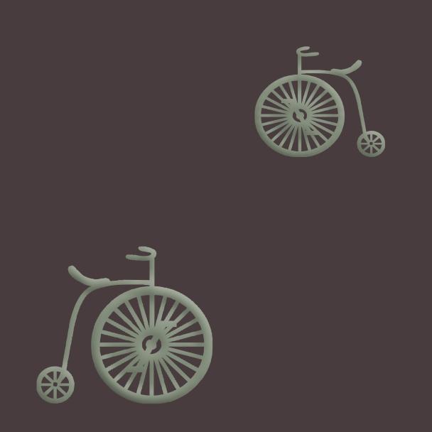 vélos verts sur fond brun