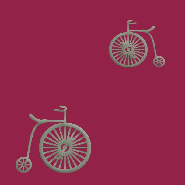 vélos verts sur fond rose fushia