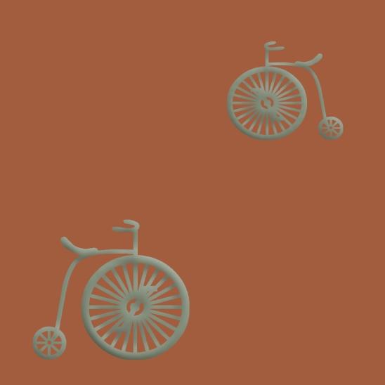 vélos verts sur fond tommettes