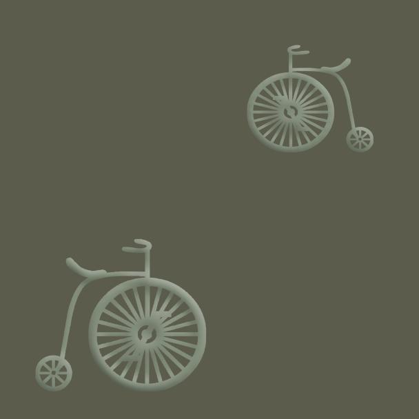vélos verts sur fond vert