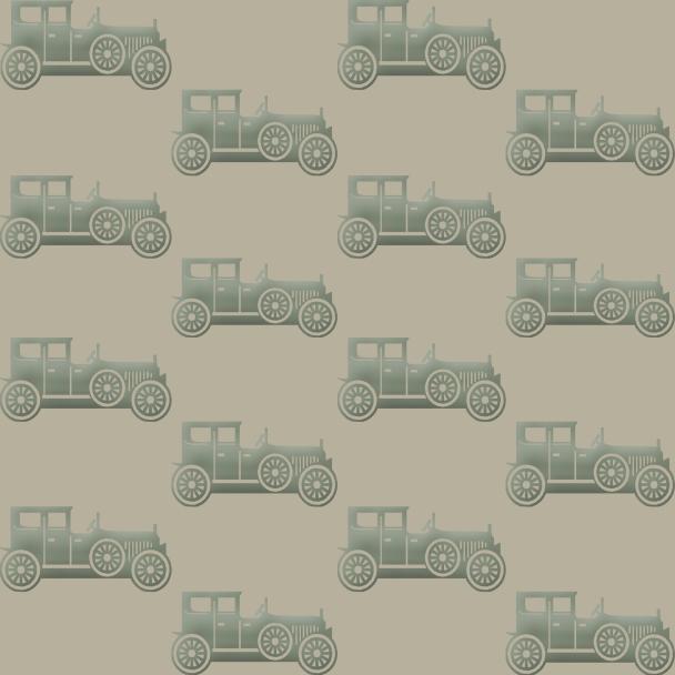 veiilles voitures vertes sur fond beige