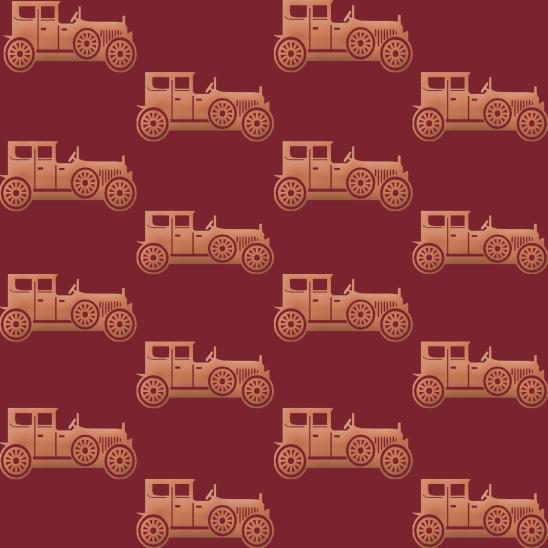 vieilles voitures sur fond bordeaux