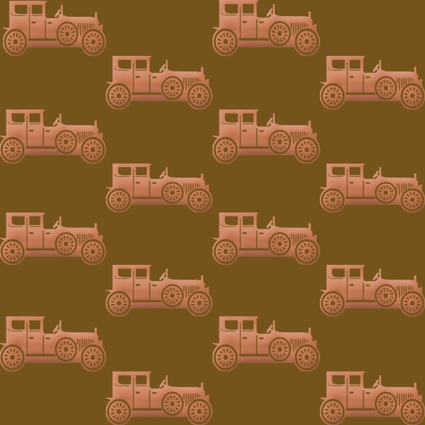vieilles voitures sur fond brun