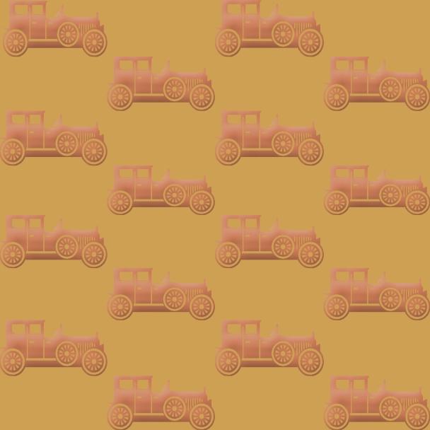 vieilles voitures sur fond jaune