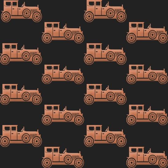 vieilles voitures sur fond noir