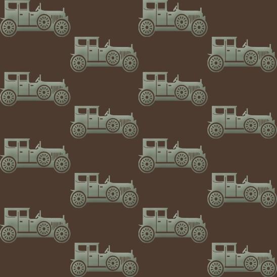 voitures vertes fond brun