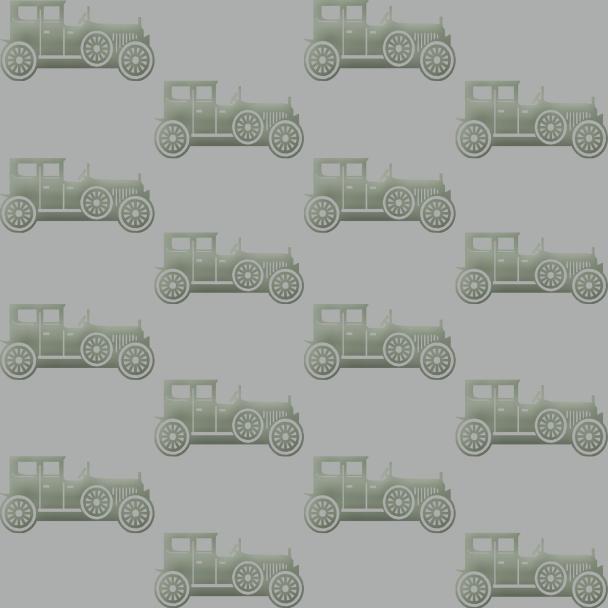 voitures vertes sur fond gris clair