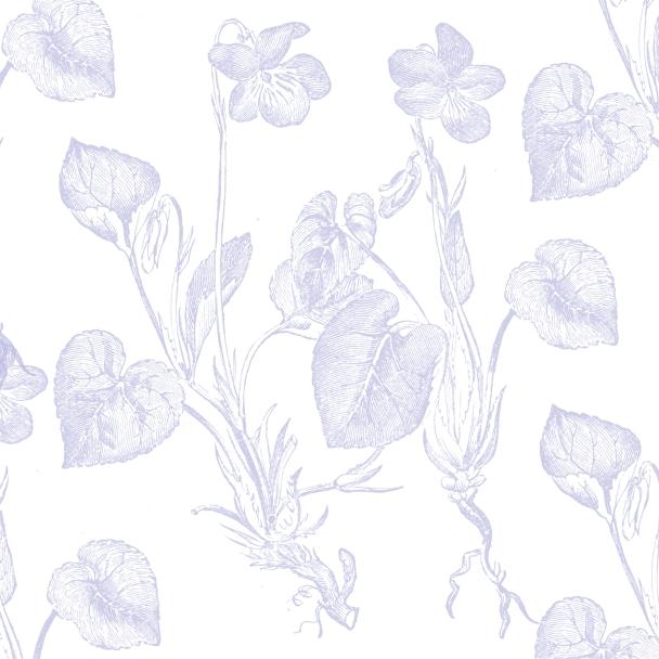 blanc fleurs mauves