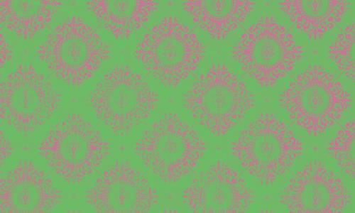 étiquett damas vert fushia