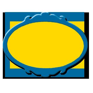 étiquette bleu jaune