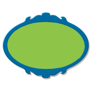 étiquette bleu vert