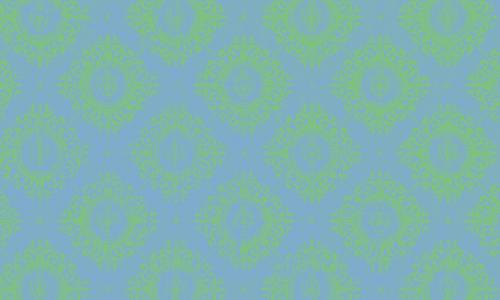 étiquette damas bleu vert