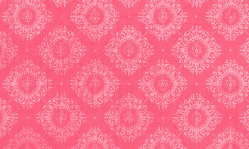 étiquette damas corail rose