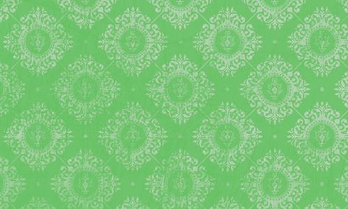 étiquette damas vert blanc